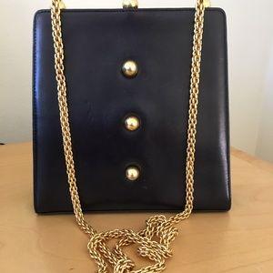 Paloma Picasso Classic Black Leather Purse